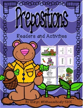 Prepositions! {Readers, Printables, Task Cards, and Matching Game}