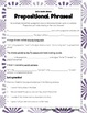 Prepositions and Prepositional Phrases: Scaffolded Notes and Practice Activities