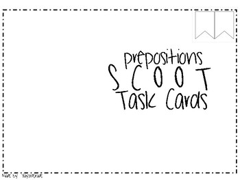 Prepositions Scoot Task Cards