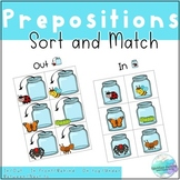 Prepositions - Sort and Match