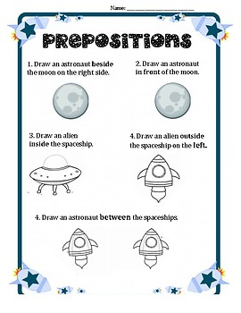 Prepositions- Space Theme