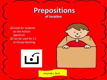 Prepositions - Special Needs; Autism; Kindergarten; First