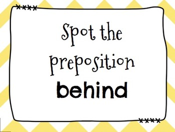 Prepositions Spot It & Steal It Game