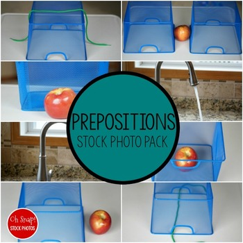 Prepositions Stock Photo Set
