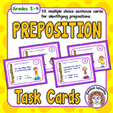Prepositions Task Cards - Beginning Set