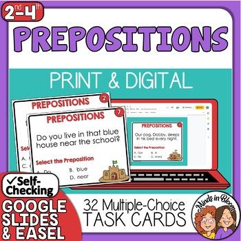 Prepositions Task Cards - Beginning Set