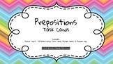 Preposition Task Cards: Identify Prepositions, Preposition