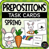 Prepositions Task Cards: Spring (Special education)