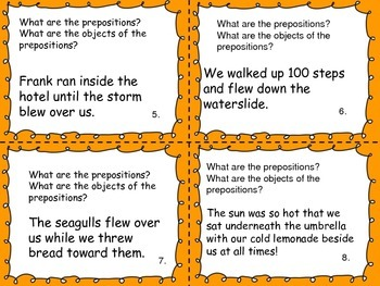 Prepositions: Task Cards, Writing/Illustrating and Close Reading (CCSS)