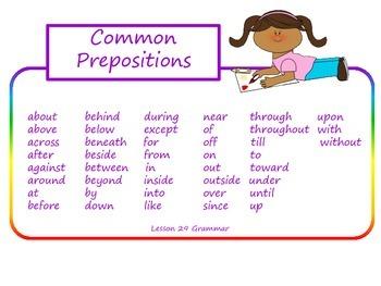 Prepositions Task Cards for Journeys 3rd Grade