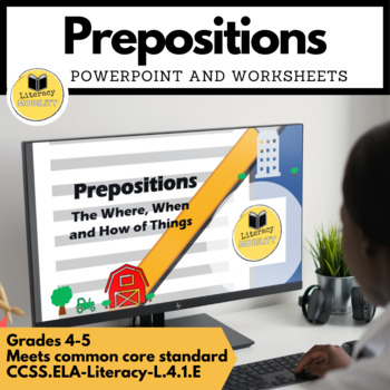 Prepositions PowerPoint and Worksheets