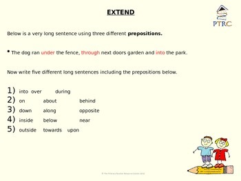 Prepositions Teaching PowerPoint