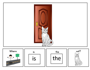 Prepositions: The In Front Book Adapted for Autism Special Ed