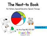 Prepositions: The Next To Book for Autism, Speech Therapy