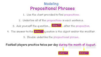 Prepositions & Their Phrases (Six-Day Unit)