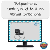 Prepositions- Under, Next to, On with Verbal Directions Bo
