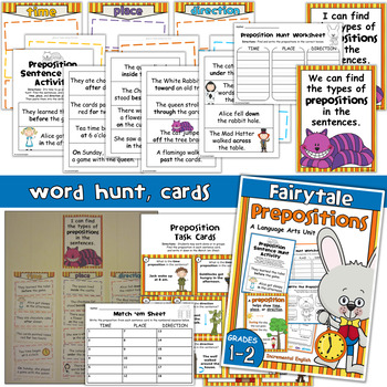 Time, Place, and Direction Prepositions Unit - Fairytale Prepositions