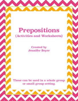 Prepositions Unit - Great for ESL!
