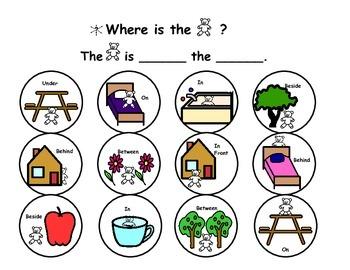 Prepositions- Where is bear?