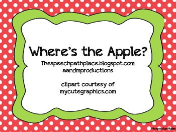 Prepositions: Where's the apple?