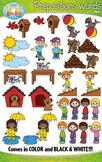 Prepositions Word Clipart {Zip-A-Dee-Doo-Dah Designs}