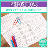 Prepositions Worksheets and Exit Tickets