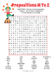 Prepositions Word Search Puzzles