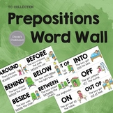 Prepositions Word Wall - From the TC Collection