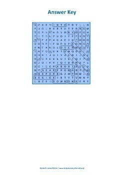 Prepositions Wordsearch with Word bank (ESL A1/B2)