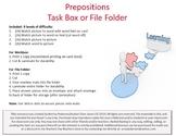 Prepositions Workbox or File Folder