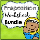 Prepositions Worksheets Bundle