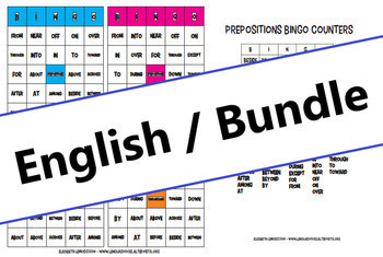 Prepositions: activities BUNDLE (English - A1/B2)