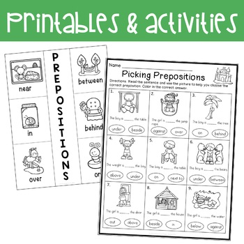 Prepositions: activities and mini lessons