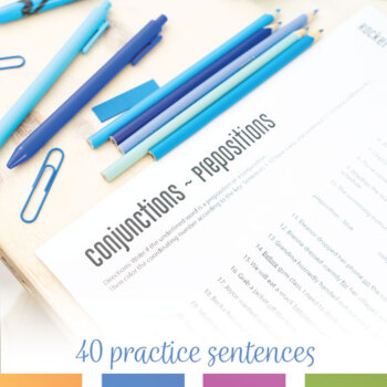 Color by Grammar Prepositions and Conjunctions