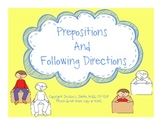 Prepositions and Following Directions Fun!