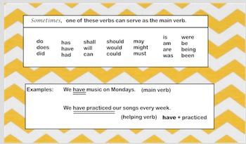 Prepositions and Helping Verbs