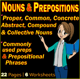 Nouns and Prepositions Worksheets | Assessments | Parts of Speech | Gr 7-8 ELA