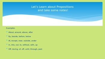 Prepositions and Organizational Writing