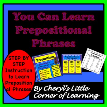 Prepositions and Prepositional Phrase Instructional Presen
