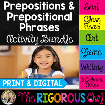 Prepositions and Prepositional Phrases Activity Bundle