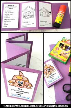 Prepositions and Prepositional Phrases Activity Preposition Interactive Book SPS
