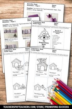 Prepositions and Prepositional Phrases Activity, ELA Craftivity SPS