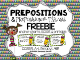 Prepositions and Prepositional Phrases FREEBIE