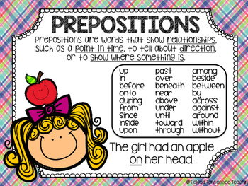 prepositions and prepositional phrases freebie by tickled tennessee