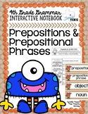 Prepositions and Prepositional Phrases Grammar Interactive Notebook