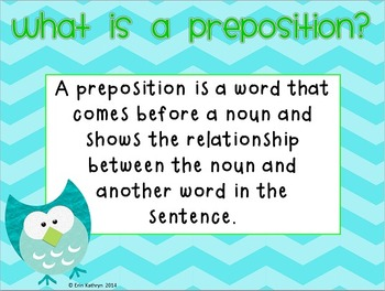 Prepositions and Prepositional Phrases PowerPoint