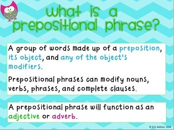 Prepositions and Prepositional Phrases PowerPoint and Task Card Bundle