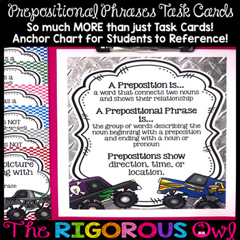 Preposition Task Cards Prepositional Phrases Task Cards
