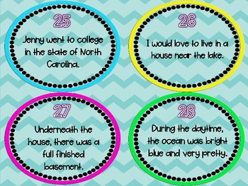Prepositions and Prepositional Phrases Task Cards (32) - Set 3 Common Core
