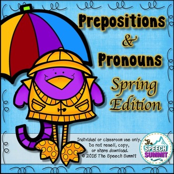 Prepositions and Pronouns {Spring Edition}